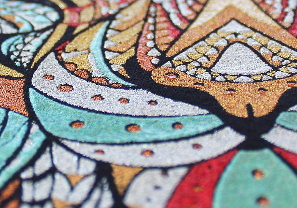 04 stampa glitter 5 colori particolare zoom