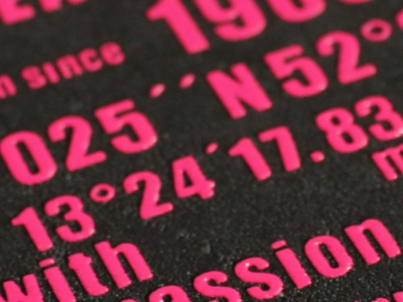 41 etichetta stampa rilievo 1 colore serigrafia